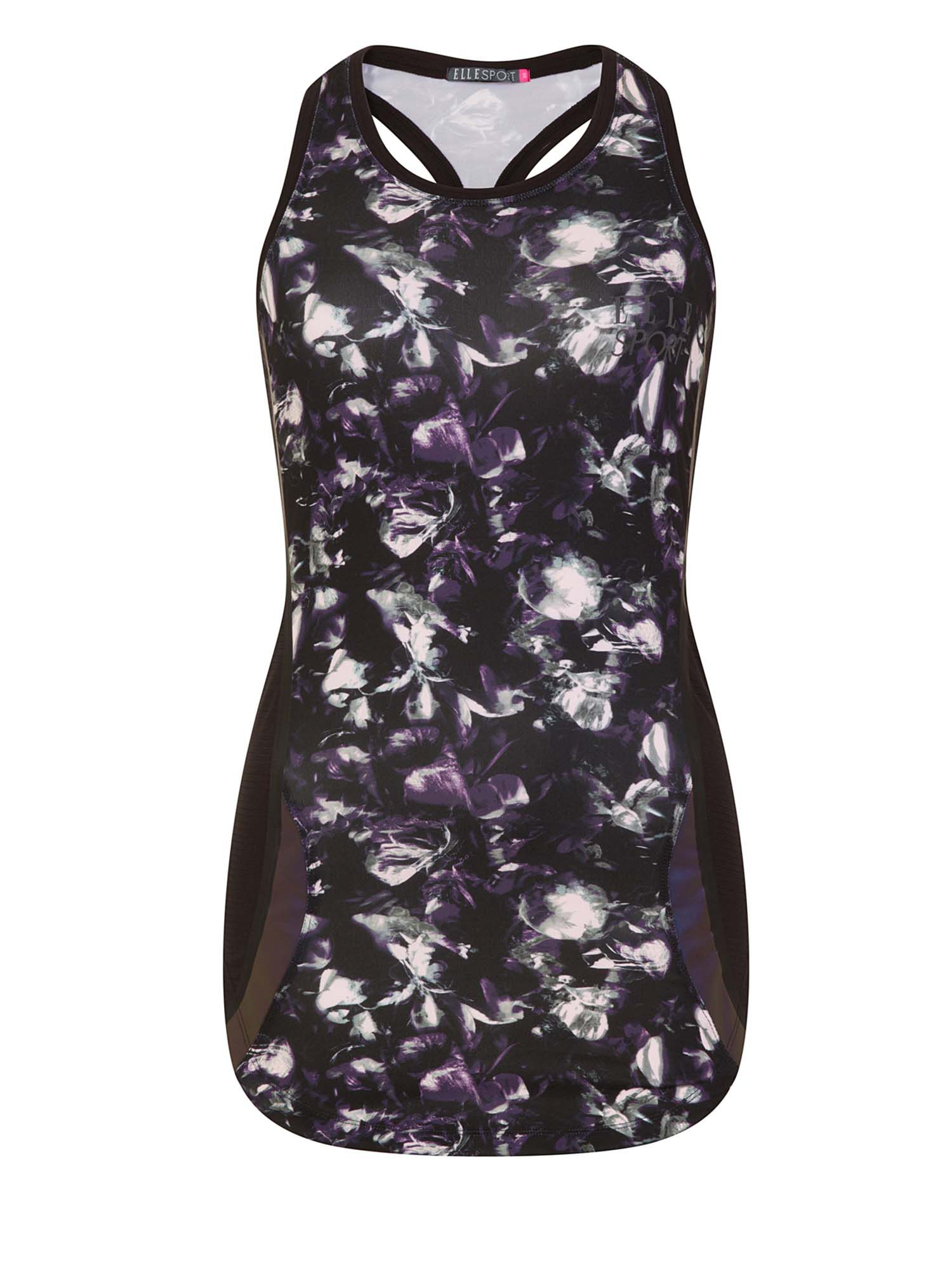 Elle Sport Styled Printed Track Tank, Multi-Coloured