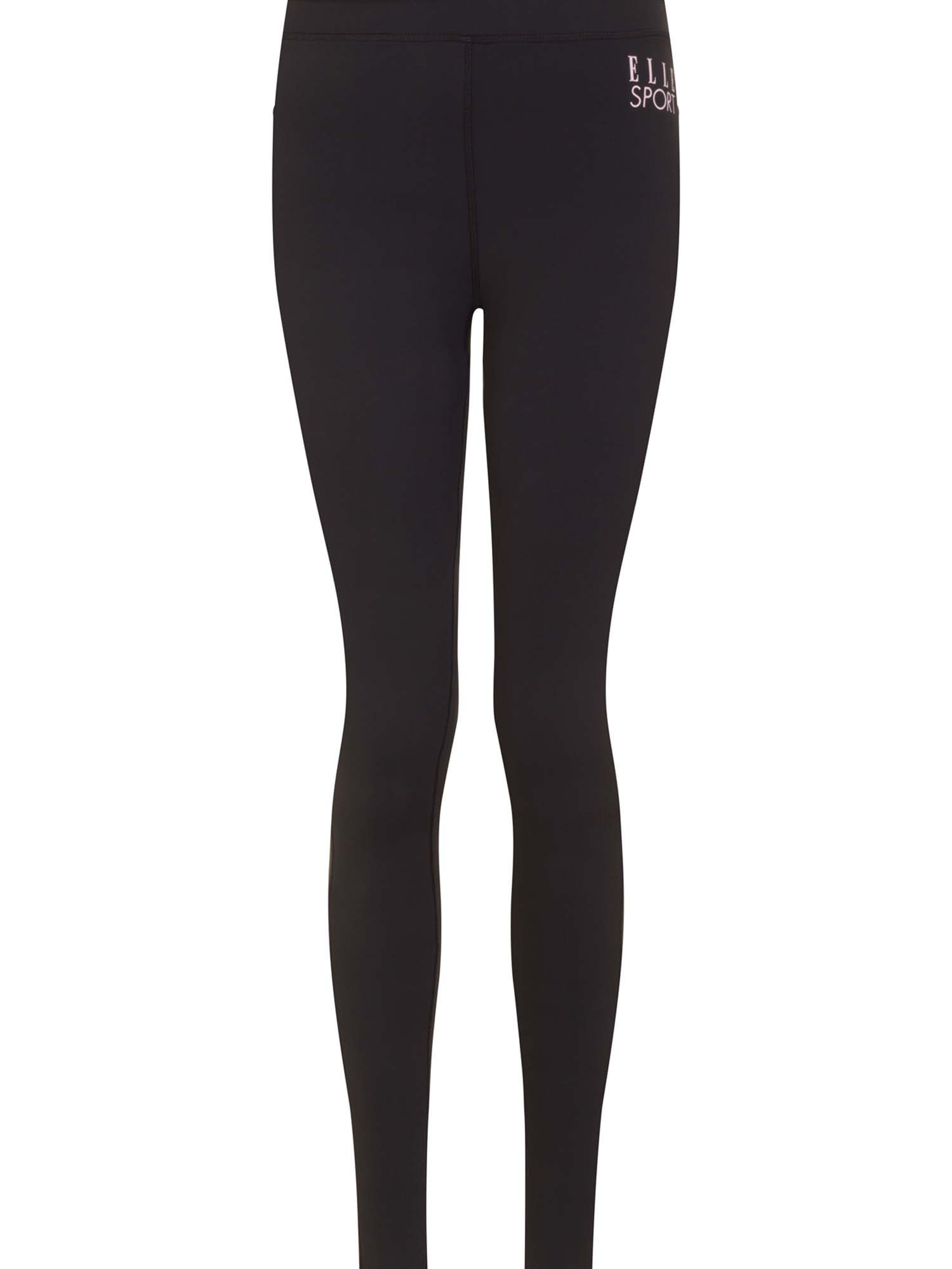 Elle Sport Warmwear Thermal Tight With Ankle Zip, Black