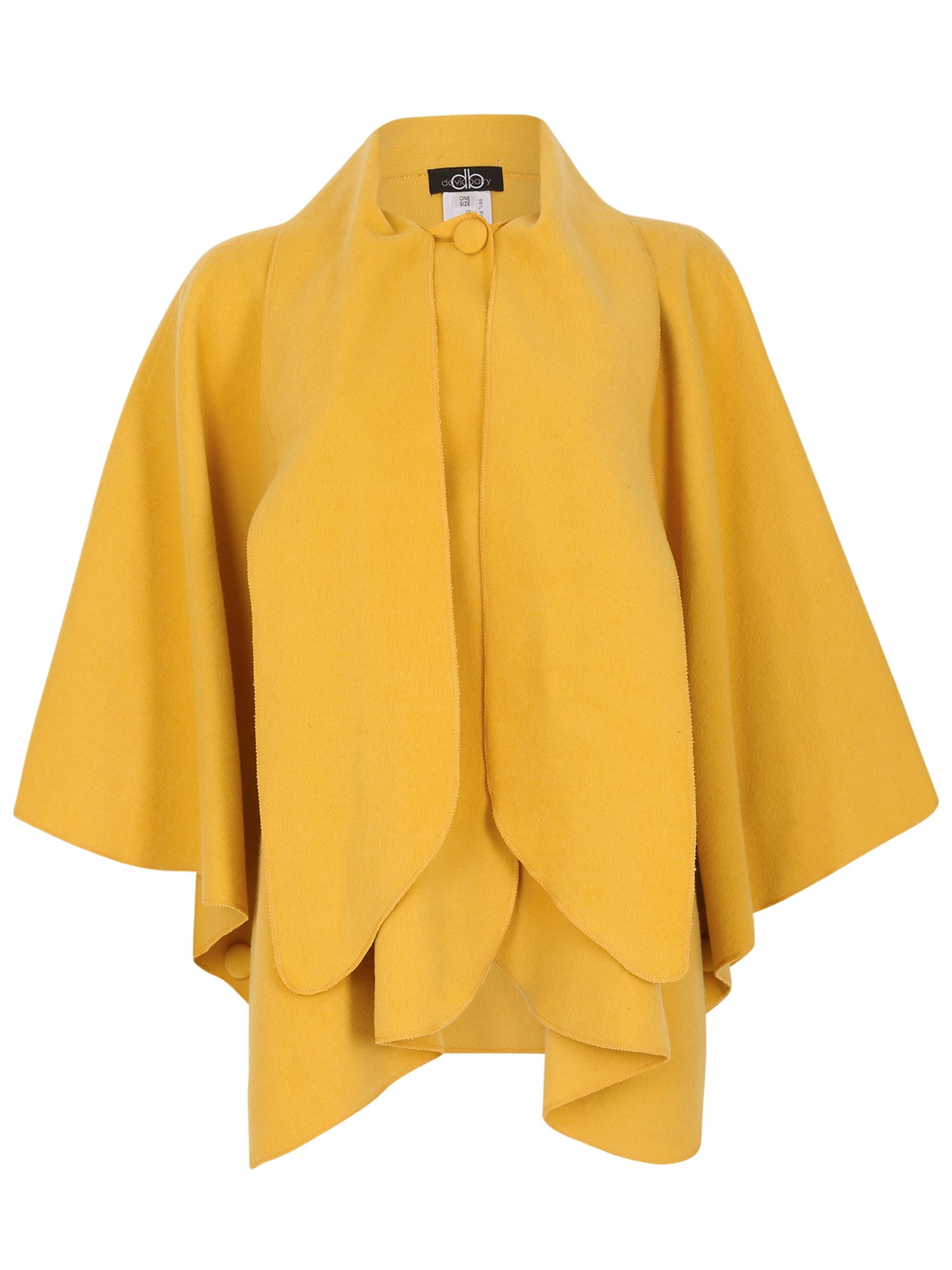 David Barry Faux Cashmere Cape, Yellow