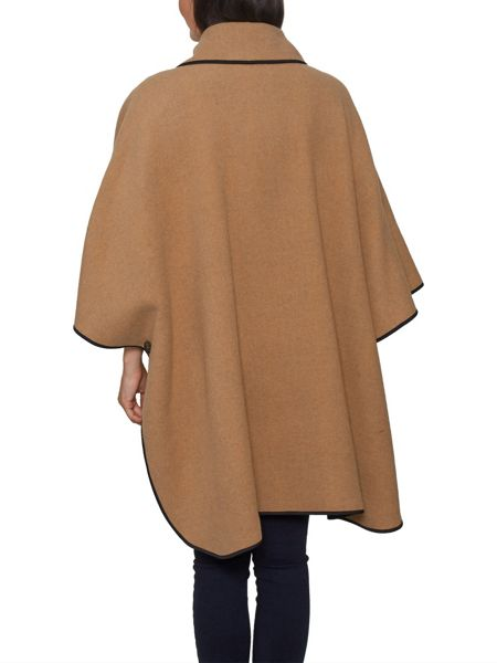 David Barry Wool Mix Cape Fully Reversible
