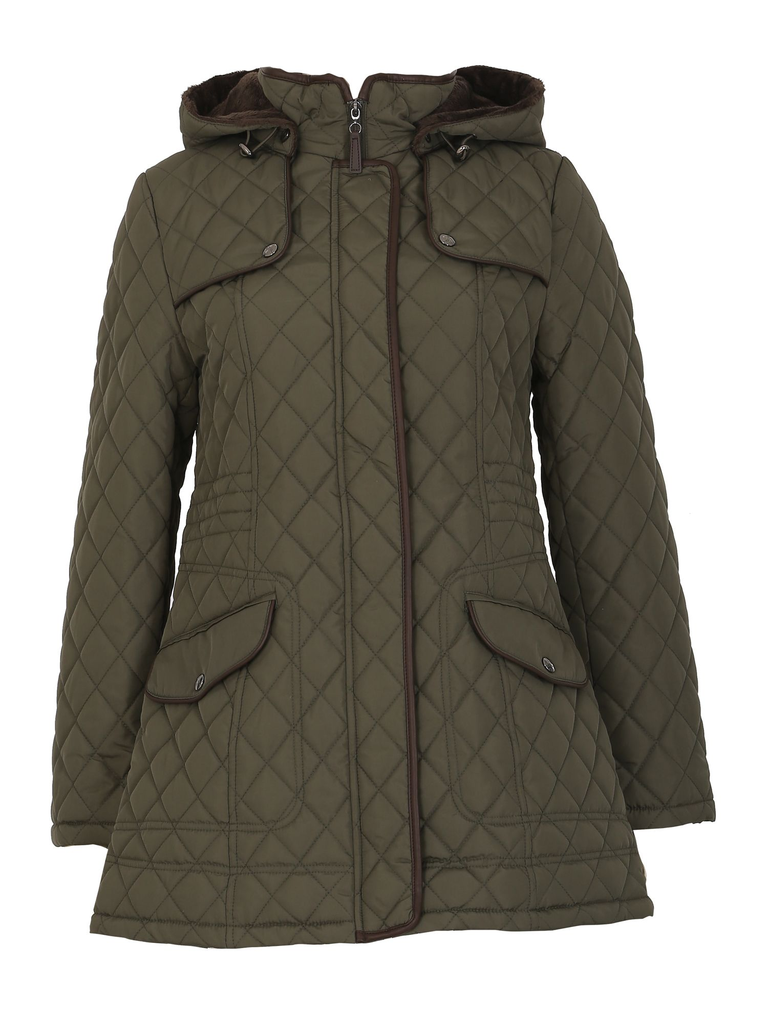 David Barry Luxury Detachable Hooded Jacket, Green