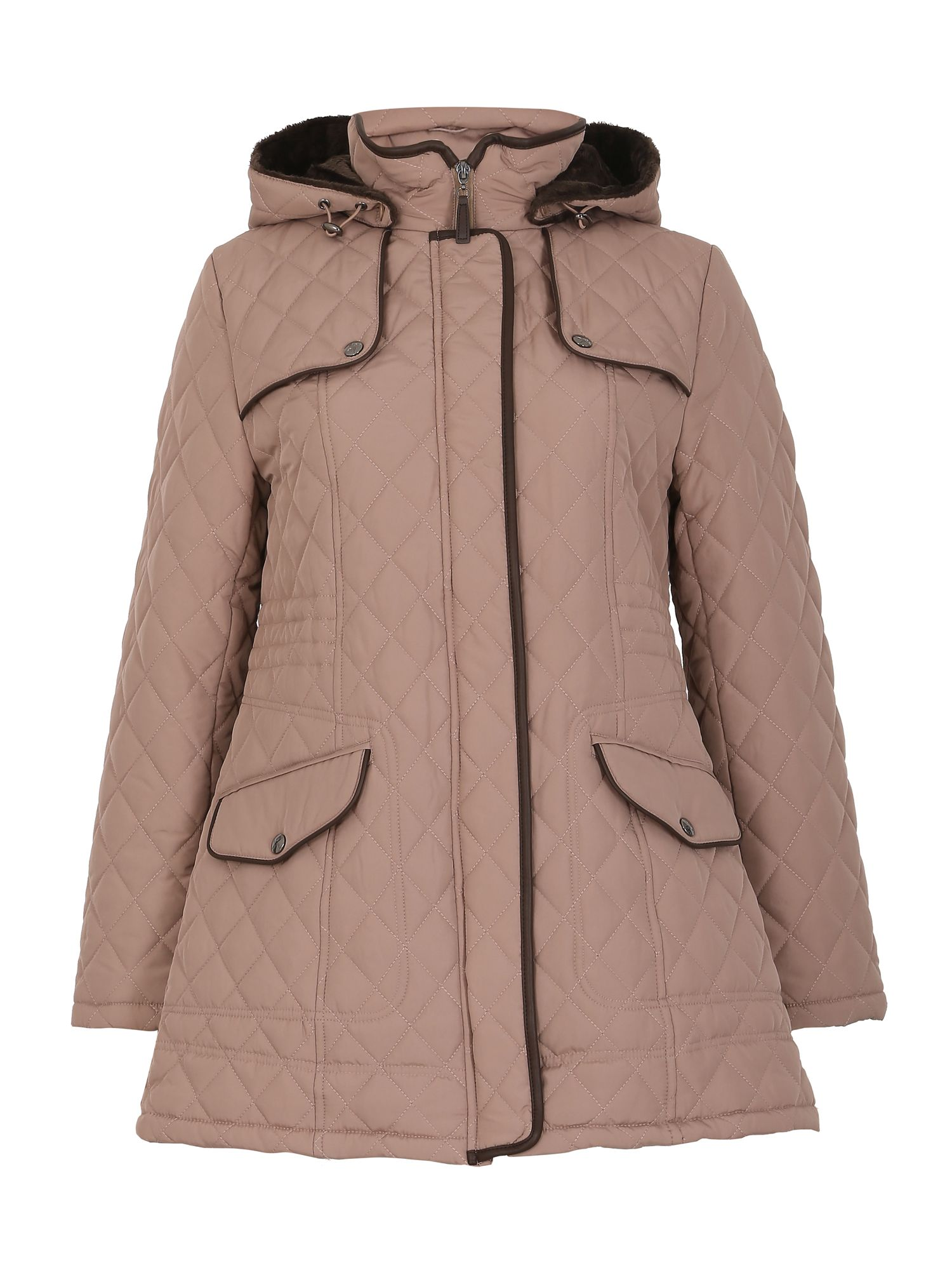 David Barry David Barry Luxury Detachable Hooded Jacket, Beige