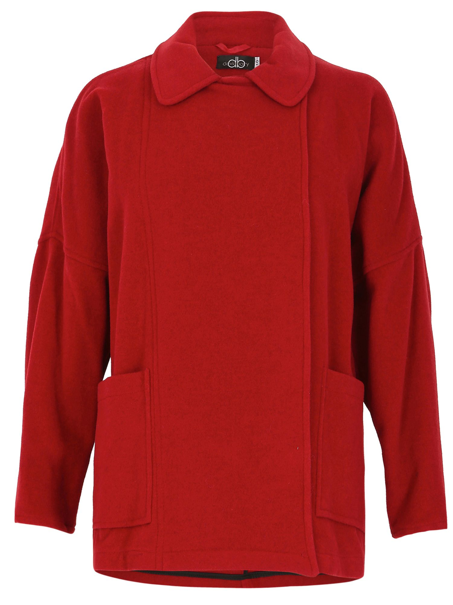 David Barry Unlined Wool Jacket Batwing, Red