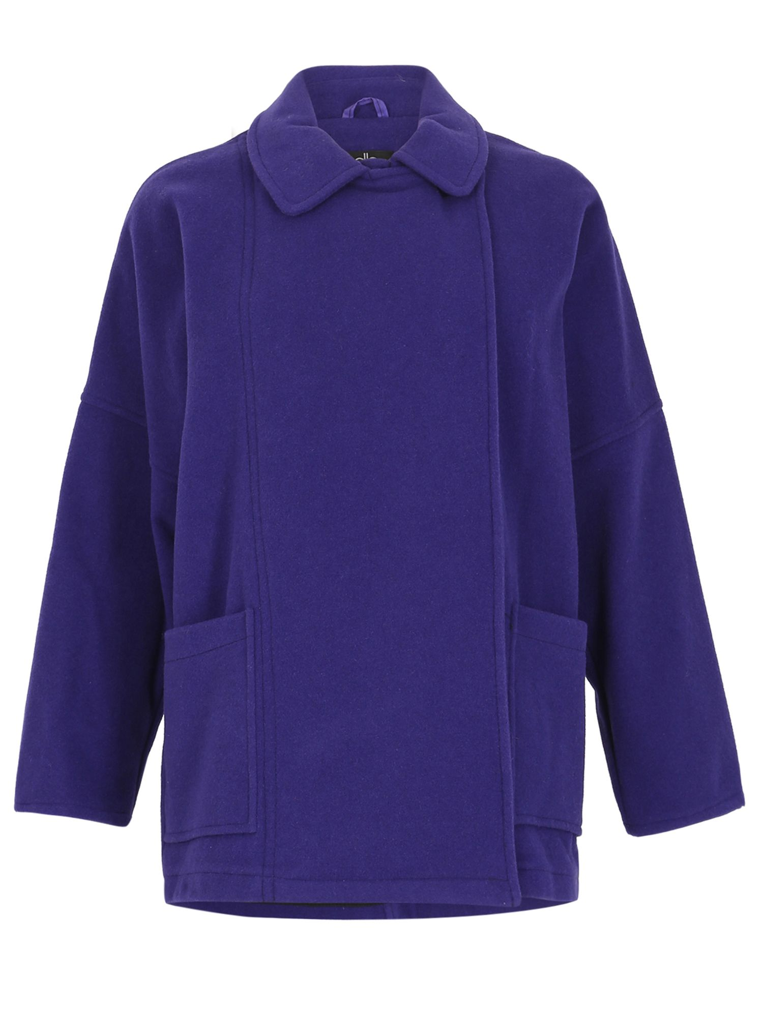 David Barry Unlined Wool Jacket Batwing, Purple