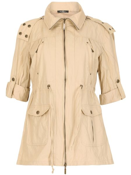 David Barry Light Weight Drawstring Waisted Jacket