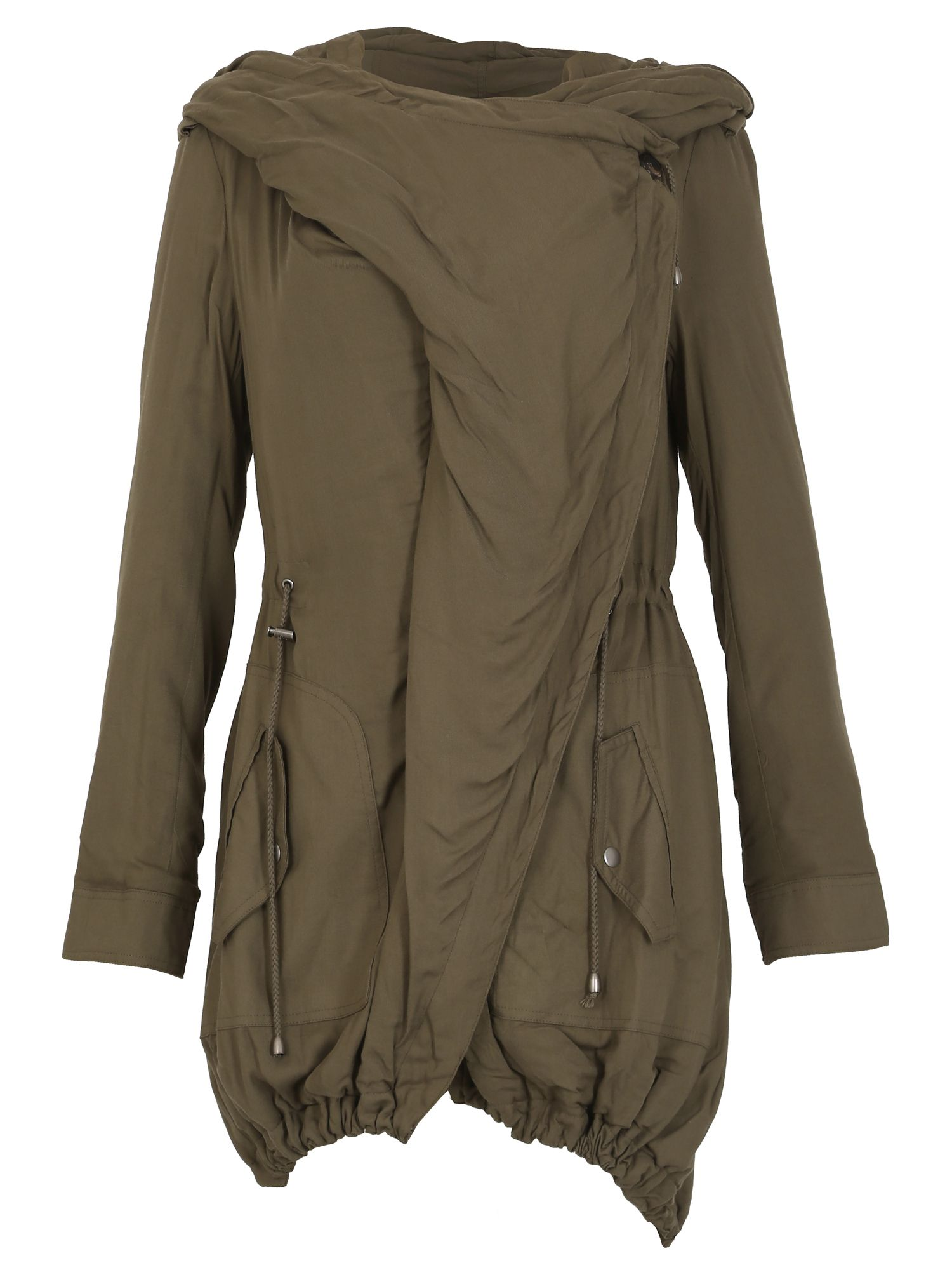 David Barry Waterfall Parka Casual Jacket, Khaki
