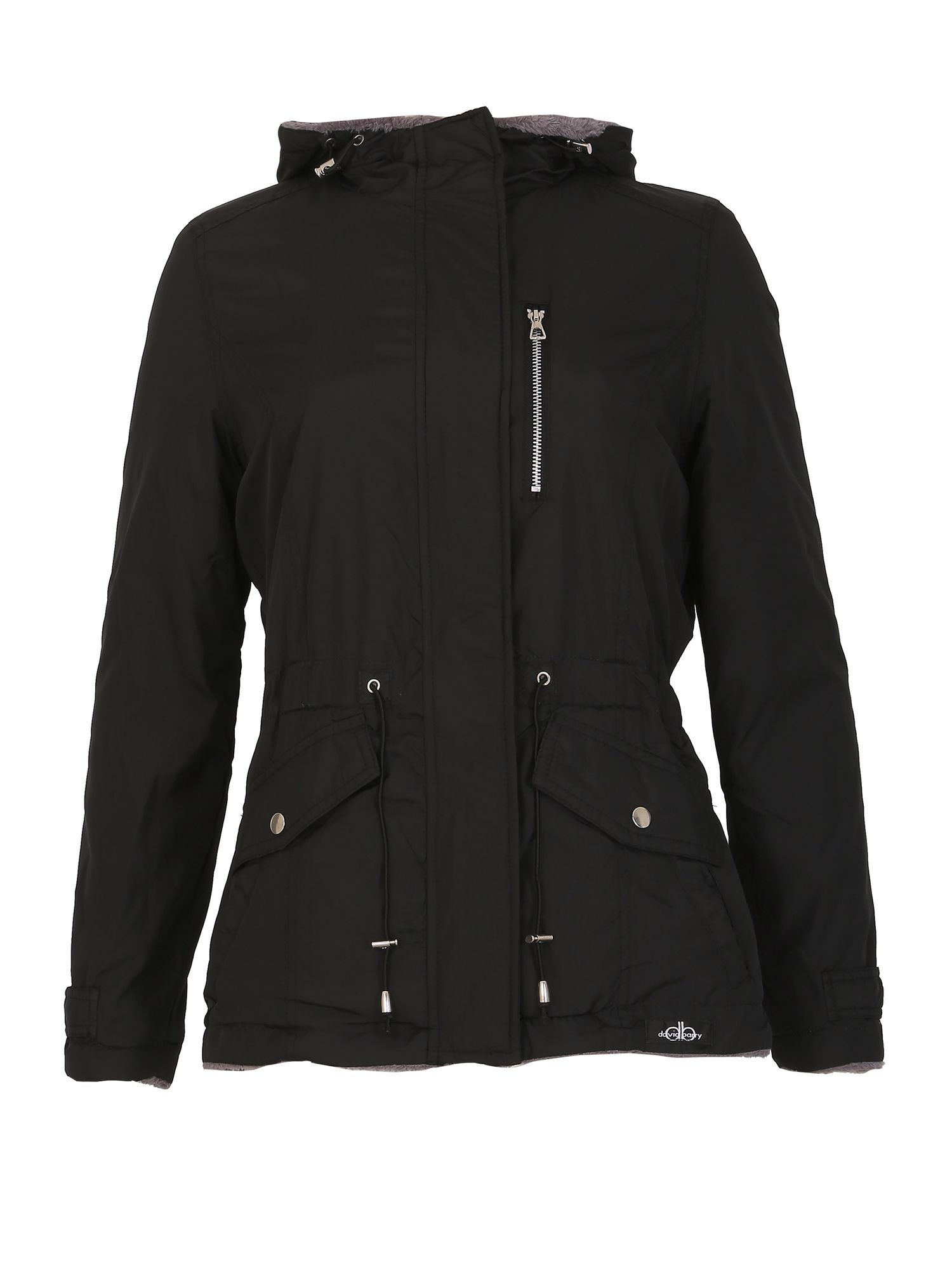 David Barry Reversible Multi Pocket Jacket, Black