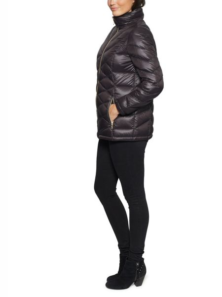 David Barry Lightweight Down & Feather Hooded Jacket