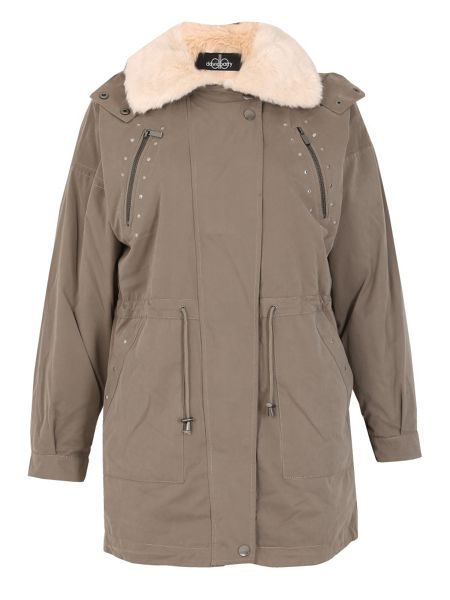 David Barry Mossy Micro Fishtail Fur Lined Parka