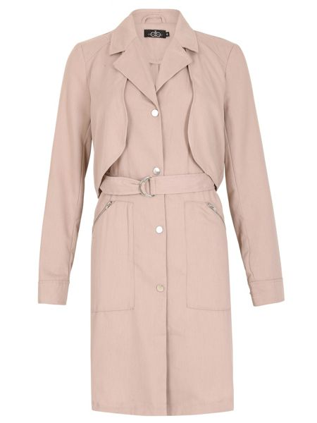 David Barry Unlined 7/8 Trench Raincoat