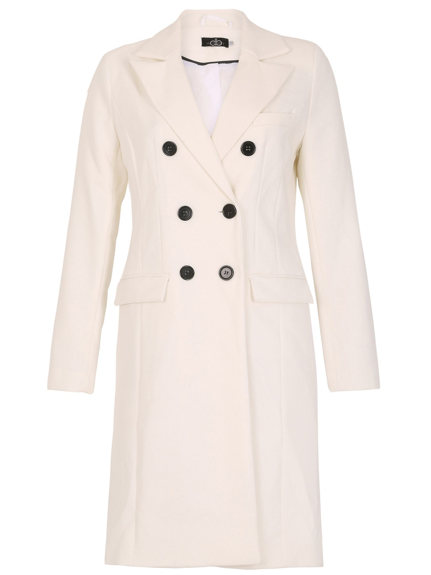 David Barry DB Lined Coat, White