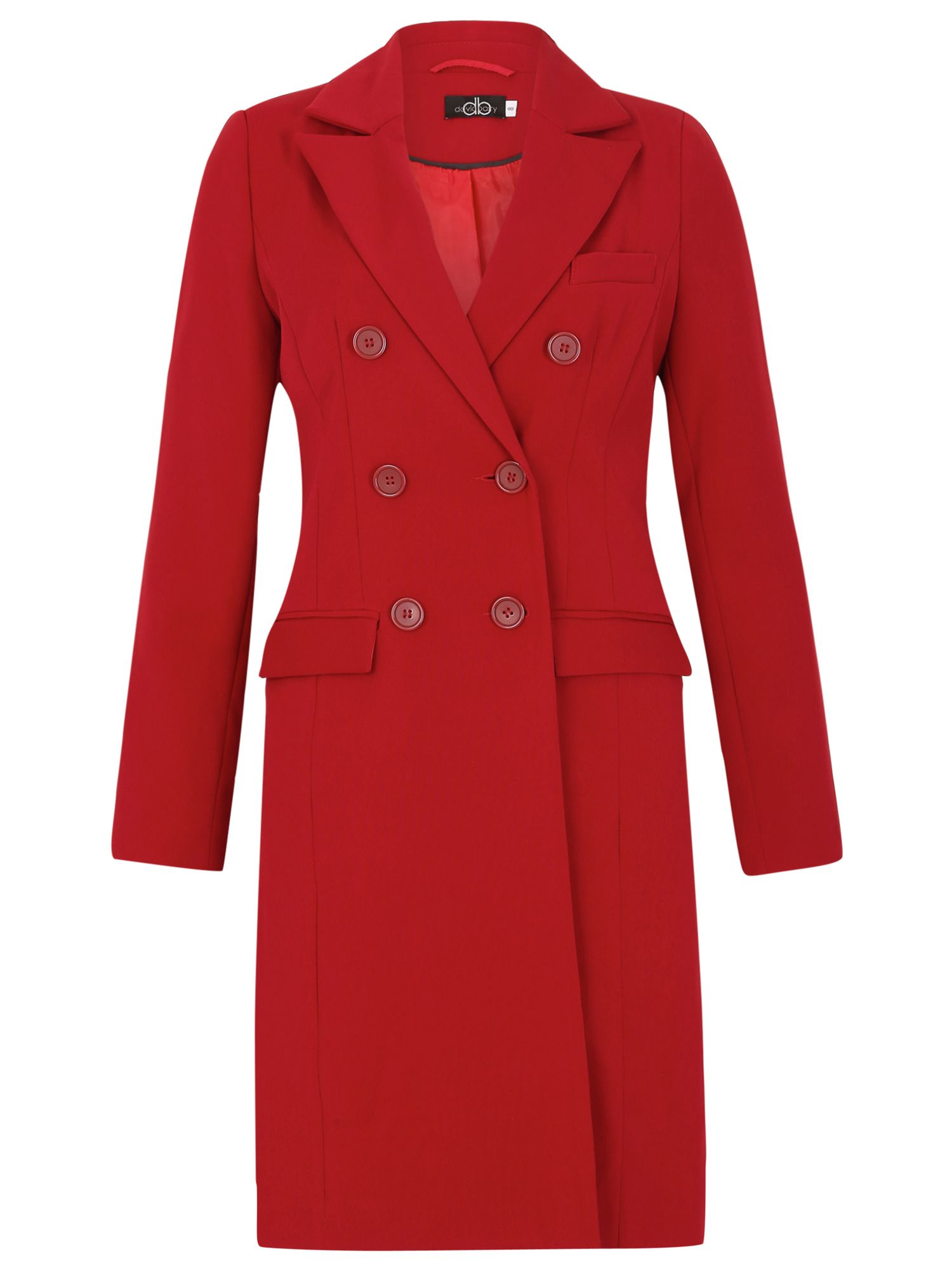David Barry DB Lined Coat, Red