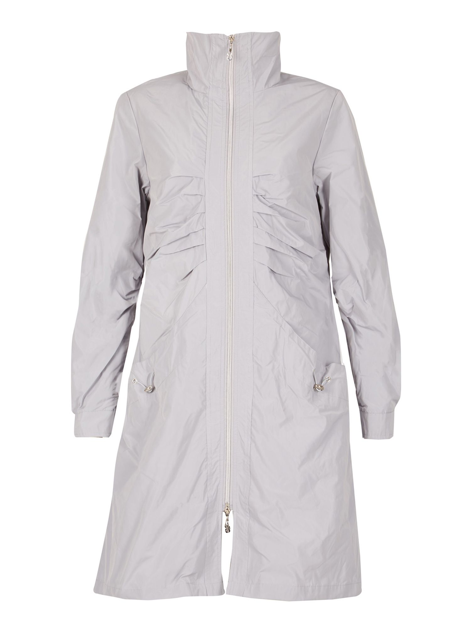 David Barry Ladies Raincoat, Silver