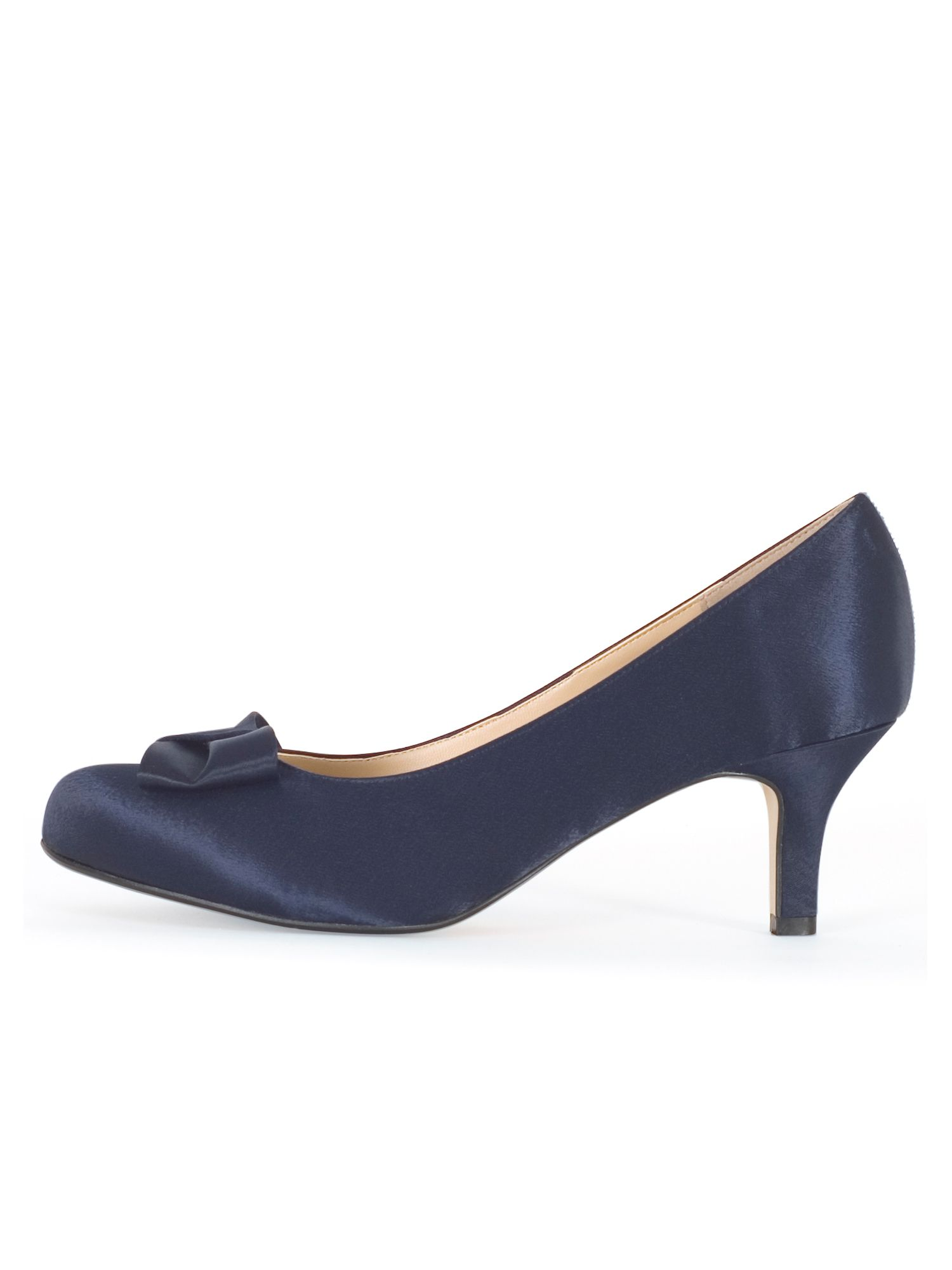 Chesca Satin D Fit Shoe with Bow Detail, Blue