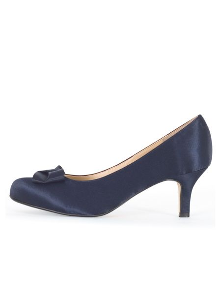 Chesca Satin D Fit Shoe with Bow Detail
