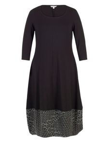 Chesca Jersey Dress with Diamond Jacquard Trim