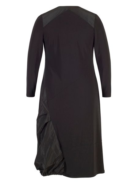 Chesca Jersey/Taffeta Puff Dress