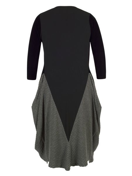 Chesca Mini Wavy Line Jacquard Jersey Dress