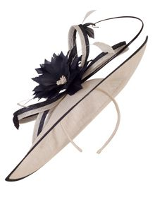 Chesca Medium Sinamay Feather Flowers Hatinator