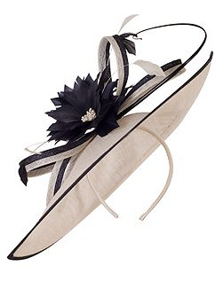 Medium Sinamay Feather Flowers Hatinator