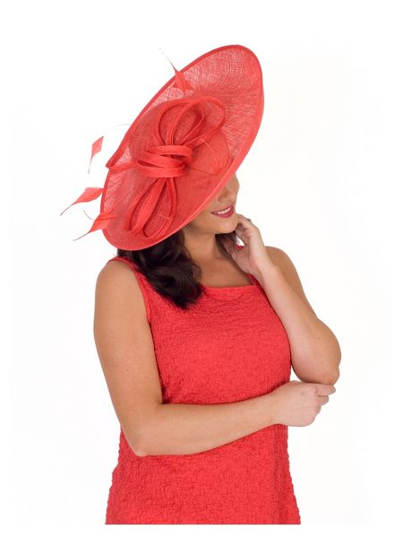 Chesca Large Bow and Feather Detail Hatinator