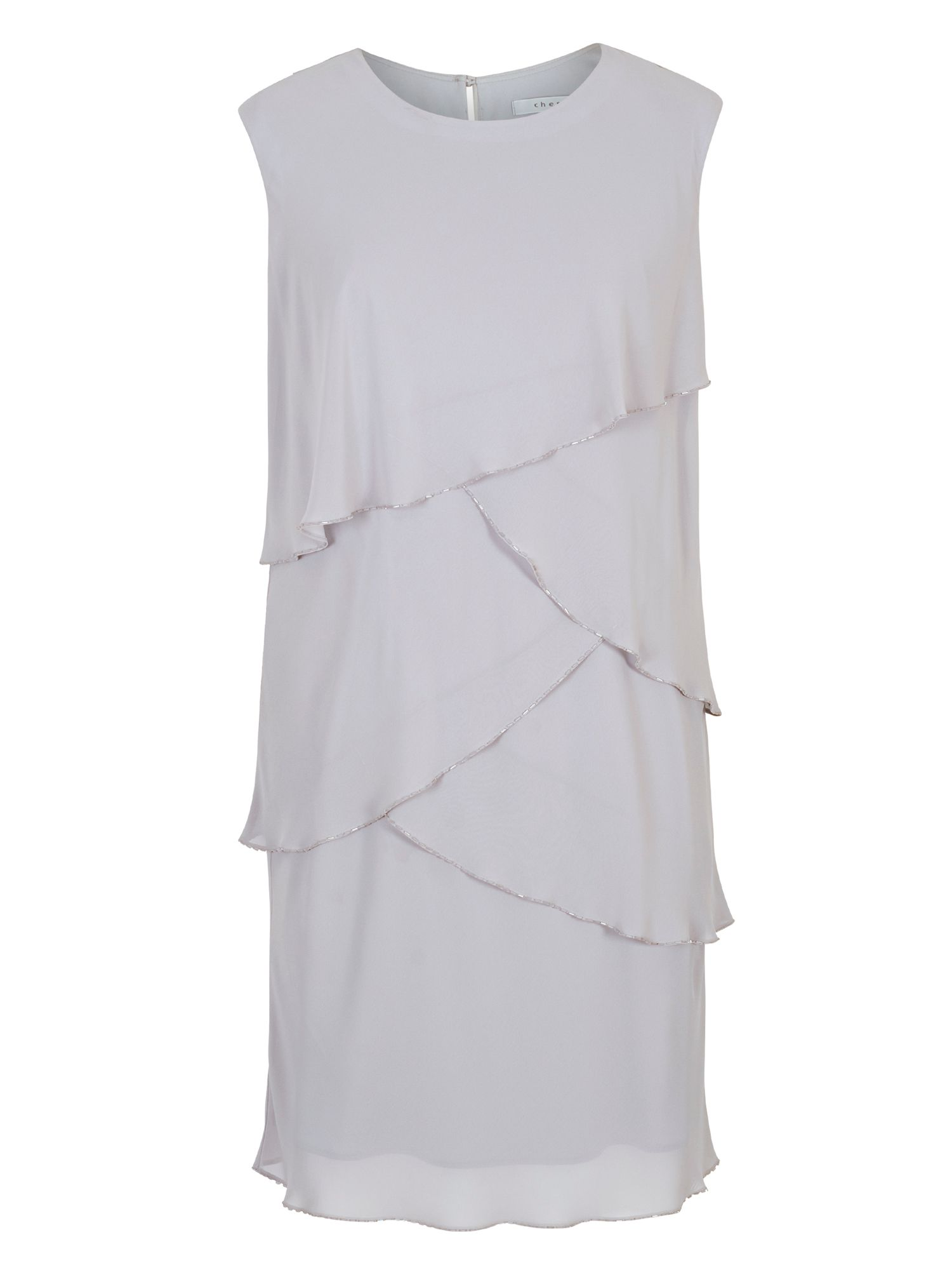 Fun 1920s Flapper Dresses & Quality Flapper Costumes Chesca Bead Trim Layered Chiffon Dress £185.00 AT vintagedancer.com