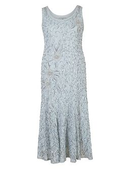 Lace Dress with Cornelli Trim
