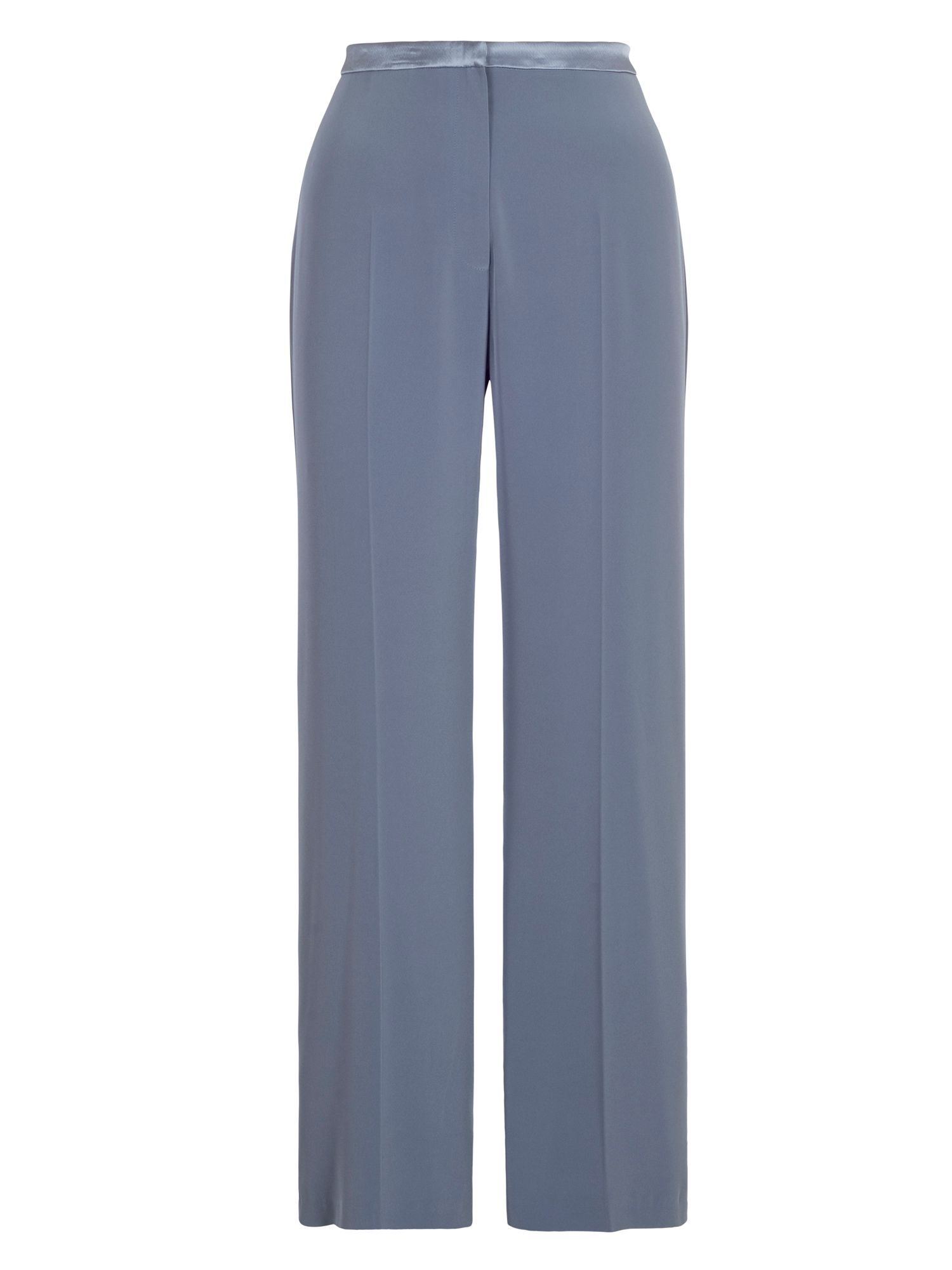 Chesca Satin Back Crepe Trouser, Grey