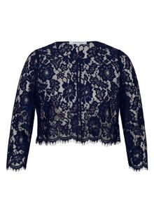 Chesca Scallop Trim Lace Jacket