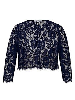 Scallop Trim Lace Jacket