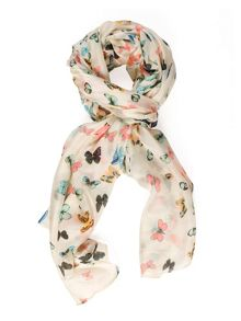 Butterfly Printed Silk Scarf