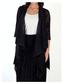 Chesca Border Lace Crush Pleat Waterfall Shrug