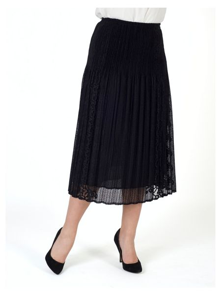Chesca Border Lace Crush Pleat Skirt