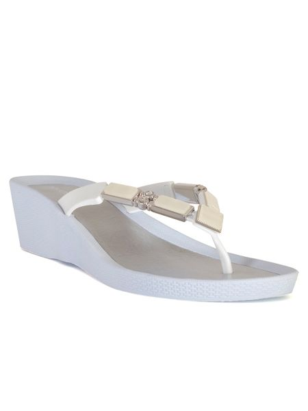 Chesca Mother of Pearl Beaded Sandal