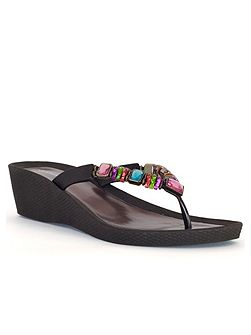 Multi-Coloured Beaded Sandal