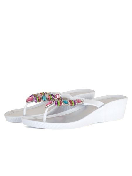 Chesca Multi-Coloured Beaded Sandal