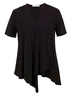Asymmetric Layered Jersey Top