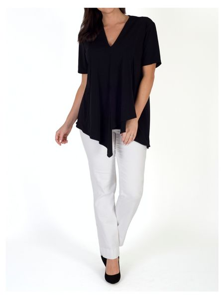 Chesca Asymmetric Layered Jersey Top