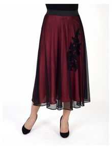 Chesca Mesh Skirt with Crinckle Motif Lining