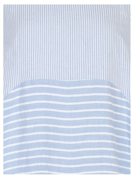 Chesca Mixed Stripe Linen Dress