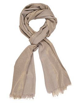 All-Over Metallic Printed Scarf
