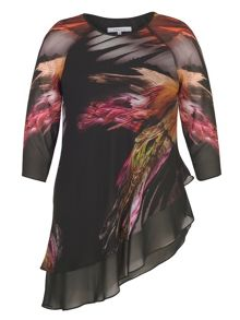 Chesca Layered Asymmetric Printed Tunic