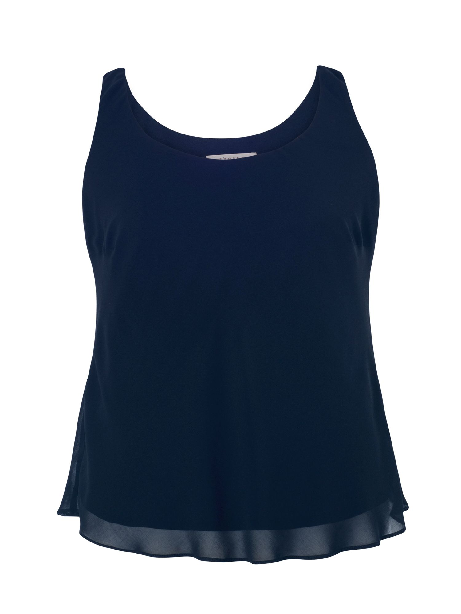 Chesca Chiffon Camisole with Jersey Lining, Blue