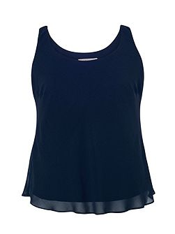 Chiffon Camisole with Jersey Lining