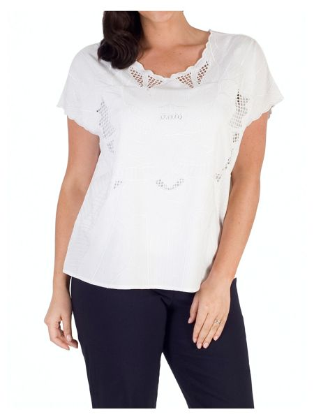 Chesca Embroidered Top