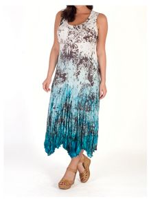 Chesca Printed Ombre Crush Pleat Dress