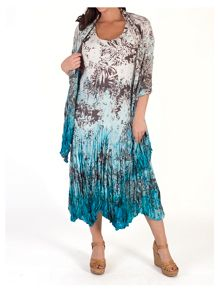 Chesca Printed Ombre Crush Pleat Shawl