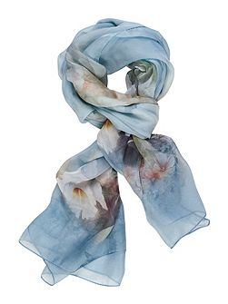 Butterfly and Floral Printed Scarf