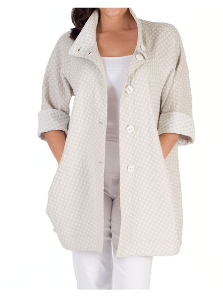 Chesca Diamond Jacquard Reversible Coat