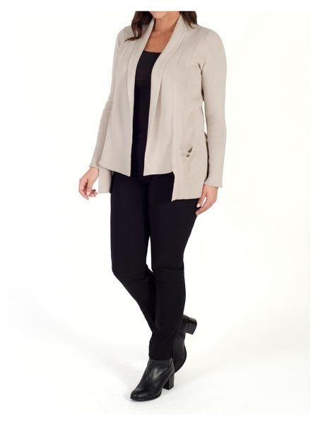 Chesca Fancy Ribbed Cardigan